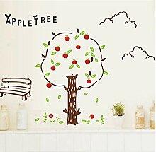Wandaufkleber Cartoon Apfelbaum Wandaufkleber Für