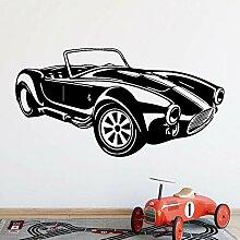Wandaufkleber Cartoon Stil Roadster Wandkunst