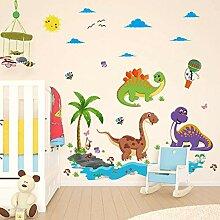 Wandaufkleber Dinosaurier Cartoon Vinyl Abnehmbare