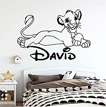 Wandaufkleber DIY Cartoon little lion zitate