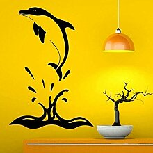 Wandaufkleber DIY Kunst Aufkleber Delphin springen