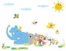Wandaufkleber Elefantenaffe Notebook Aufkleber