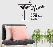 Wandaufkleber englische Gerüchte Wein