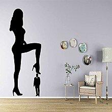 Wandaufkleber exquisite Frau Wandkunst Aufkleber
