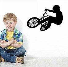 Wandaufkleber Extreme Fahrradsport Vinyl