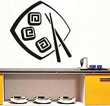 Wandaufkleber Fashion Food abnehmbare Küche