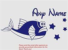 Wandaufkleber Fish Stars Personalisierte Name