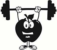 Wandaufkleber Fitness Kinder Kreative Apple Mit
