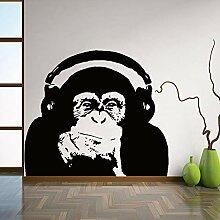 Wandaufkleber Gorilla Muster Vinyl Wandaufkleber