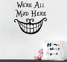 Wandaufkleber, Halloween Horror Smiley Aufkleber,