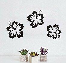 Wandaufkleber Hibiskus Blume Wanddekoration Vinyl
