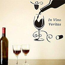 Wandaufkleber Home Decor Schwarz In Vino Veritas