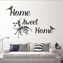 WandaufkleberHome Sweet Home Aufkleber Kunst