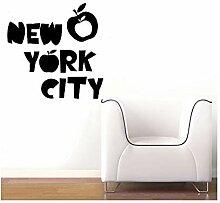 wandaufkleber kinder Apple New York City für