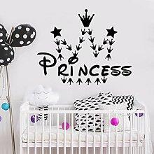 Wandaufkleber Kinderzimmer Prinzessin Krone für