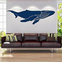 Wandaufkleber Kreative 3D Blue Dolphin
