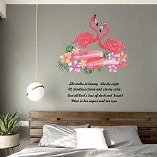 Wandaufkleber Kreative Flamingo Paar Schlafzimmer