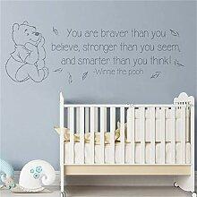 wandaufkleber Kreative süße Winnie the Pooh für