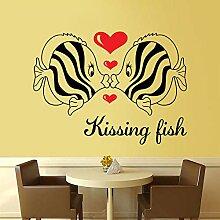 Wandaufkleber Kreative Tropische Fische Liebe
