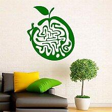 Wandaufkleber Kreatives Apple-Labyrinth Für