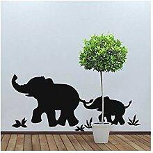wandaufkleber küche holz Elefant für Wohnzimmer