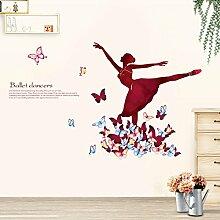 Wandaufkleber mode ballett tanz mädchen