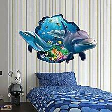 Wandaufkleber mode kreative 3d stereo delphin