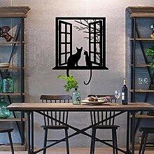 Wandaufkleber Mode Kreative Ausschnitt Fenster