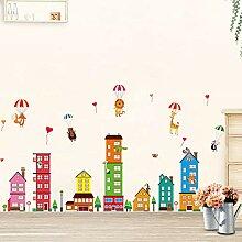 Wandaufkleber Mode Kreative Große Cartoon Schloss