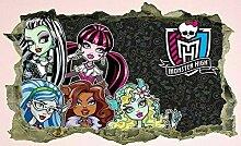 Wandaufkleber Monster High, Kind, Aufkleber,