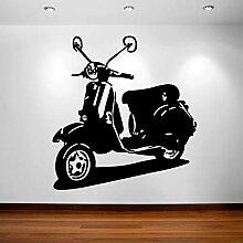 Wandaufkleber, Motiv: Moped Scooter, Hipster,
