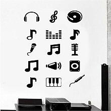 Wandaufkleber Musik Melodie Noten Aufkleber