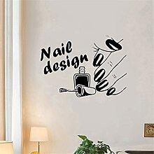 Wandaufkleber Nagel-Design-Salon Für Das Schöne