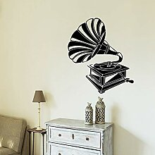 Wandaufkleber Nette Phonograph Wandkunst Aufkleber