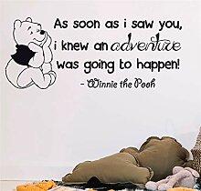 wandaufkleber Niedliche Winnie The Pooh Zitate