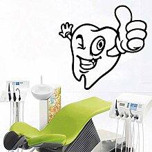 Wandaufkleber niedliche Zähne Hauptdekoration