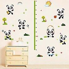 Wandaufkleber Panda Höhe Aufkleber Kindergarten
