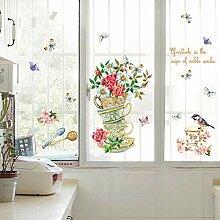 Wandaufkleber Pflanzen Wohnzimmer Dekoration Vinyl