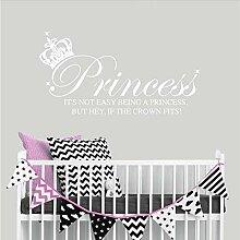 Wandaufkleber Prinzessin Crown Wandtattoo