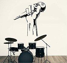 Wandaufkleber Pvc Mikrofon Hand Karaoke