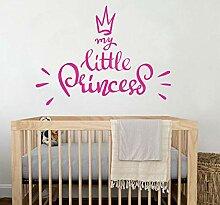 Wandaufkleber Pvc My Little Princess Schlafzimmer