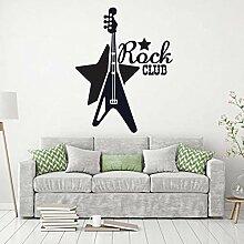 Wandaufkleber Rock Club Musik Wandtattoo Musik