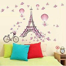 Wandaufkleber Romantische Eiffelturm Aufkleber