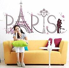 Wandaufkleber Romantische Paris Eiffelturm