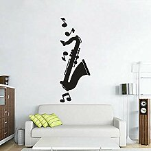 Wandaufkleber Saxophon Musikinstrument Kunst