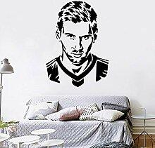 Wandaufkleber Schlafzimmer Messi Football Player