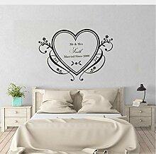 Wandaufkleber Schlafzimmer Romantische Dekor