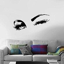 Wandaufkleber Schöne Charmante Augen Wimpern