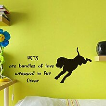 Wandaufkleber Schöne Labrador Pet Shop Zitat