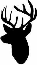 Wandaufkleber Silhouette Kopf Deer Wandaufkleber